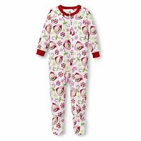 Toddler Girls' Elf On The Shelf Footed Sleeper Christmas Pajamas 4t 5t