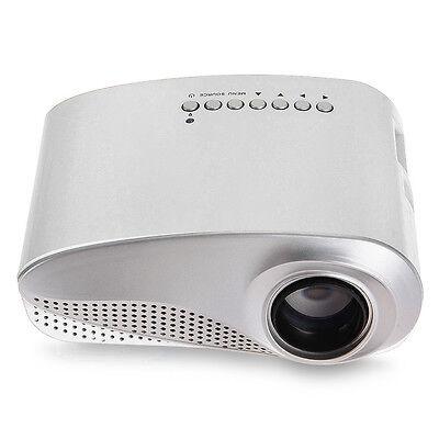 Mini LED Multimedia Projector Portable Cinéma Projecteur 1080P HDMI TV AV Blanc