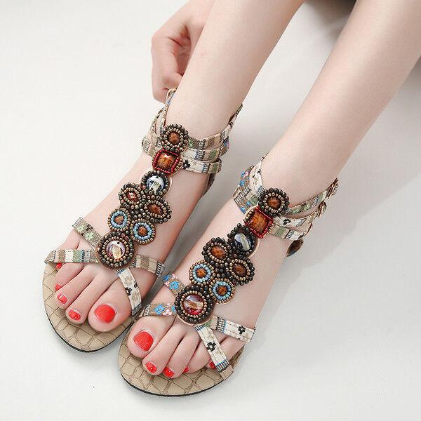 Sandali eleganti bassi  ciabatte Colorati beige leggeri pelle sintetica 9931
