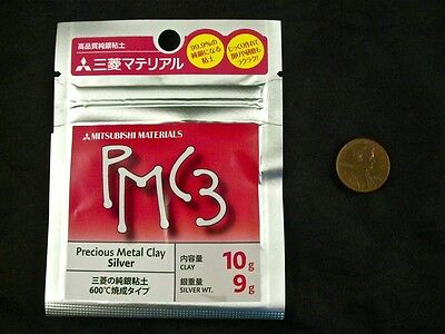 F/S 10g Mitsubishi PMC3 Precious Metal Clay Silver Art Clay Pack 9g Weight