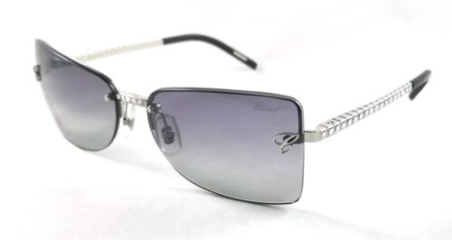 CHOPARD SCH509S SCH 509S 549F GREY GRADIENT SUNGLASSES W//RHINESTONES NEW