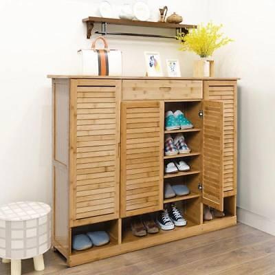 Bamboo Shoe Rack Case Shelf Book