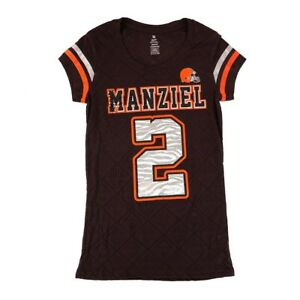 0cae5272815 Image is loading Johnny-Manziel-NFL-Cleveland-Browns-Player-Jersey-T-