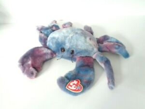 Classic-Ty-Beanie-Buddy-Digger-the-Crab-Soft-Plush-Toy-1999-NEW-WITH-TAG