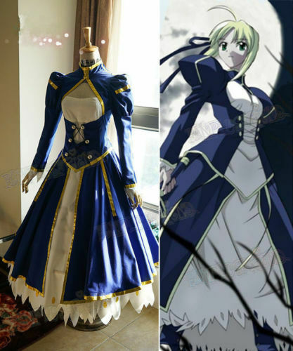 Saber Combat Outfit Costume Fate Stay Night Cosplay