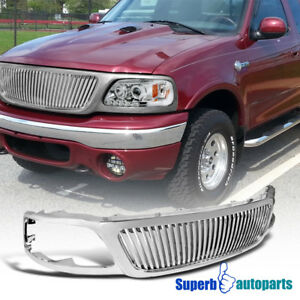 Details About For 1999 2003 Ford F150 1999 2002 Expedition Vertical Style Grille
