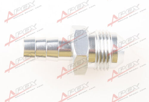 8AN 8AN AN8 To 10mm Barb Straight Fitting Fuel Line Aluminum Alloys Silver