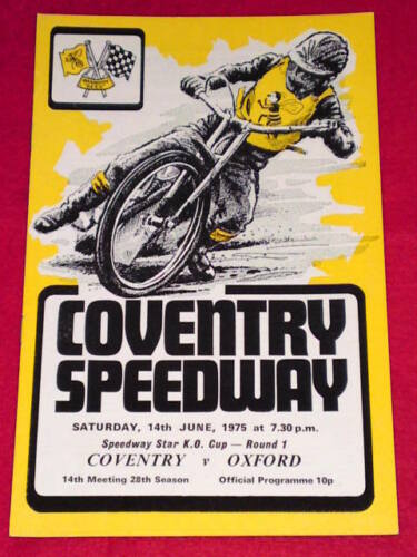 SPEEDWAY Coventry v Oxford June 14 1975