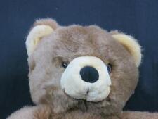 RARE IKEA OF SWEDEN NOJSIG BROWN TEDDY BEAR BLACK NOSE PLUSH STUFFED ANIMAL TORY