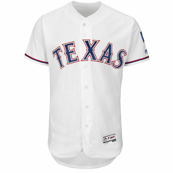 Majestic Texas Rangers Authentic Home Cool Base Baseball Jersey