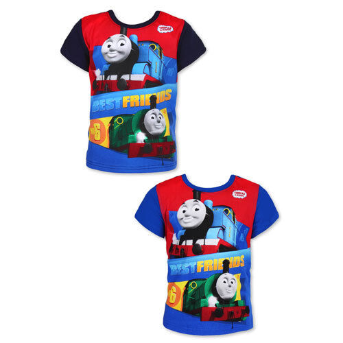 Boys 100/% Cotton Thomas and Friends Short Sleeve Printed T-Shirt 2-6 years