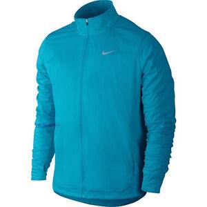 Nike Women s Shield 2.0 Running Jacket M Blue Gym Casual Training ... 982698491