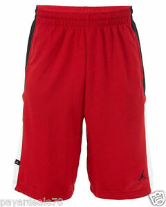 26cb91717988 MEN S NIKE JORDAN BANKROLL BASKETBALL SHORTS BLACK WHITE RED SIZES ...