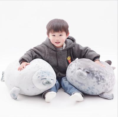 Chubby Large Blob Fluffy Seal Plush Cute Ocean Pillow Animal Stuffed Doll Toy DD