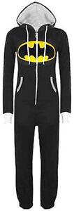 Adult Batman Jumpsuit, All In One Piece 1Onesie  Pyjamas, Print Hooded