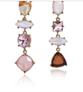 Drop earrings  New elegant geometric shapes pink and brown drop gold earrings - <span itemprop='availableAtOrFrom'>Rochester, United Kingdom</span> - Drop earrings  New elegant geometric shapes pink and brown drop gold earrings - Rochester, United Kingdom