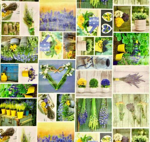 Wachstuch Tischdecke Garten Herzen Lavendel Frühling B5016-01 eckig rund oval