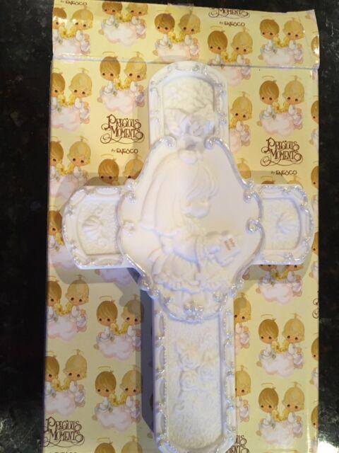 Precious Moments-/'Communion Cross Box/' Girl With Rosary Box #123406 New In Box