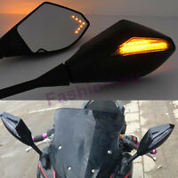 Led Rear View Mirrors For Kawasaki Ninja 500r 650r Zx6rr Zx7r Zx9r Zx12r Zx14r