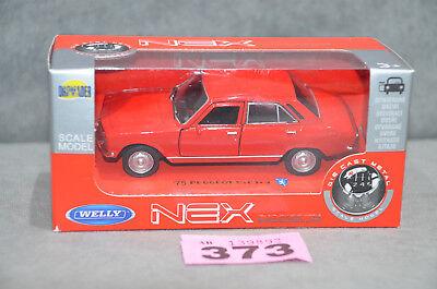 1975 PEUGEOT 504 RED 1:34-1:39 WELLY METAL CAR NIB