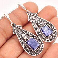 Tanzanite Crystal 925 Sterling Silver Earrings Jewelry SE95645
