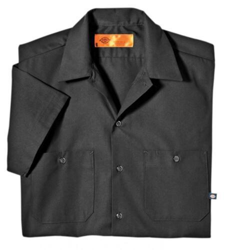 Dark Charcoal Dickies Men/'s Short Sleeve Industrial Work Shirt Large