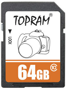 TOPRAM-64GB-SD-class10-C10-64G-SDXC-2-0-3-0-secure-digital-memory-card