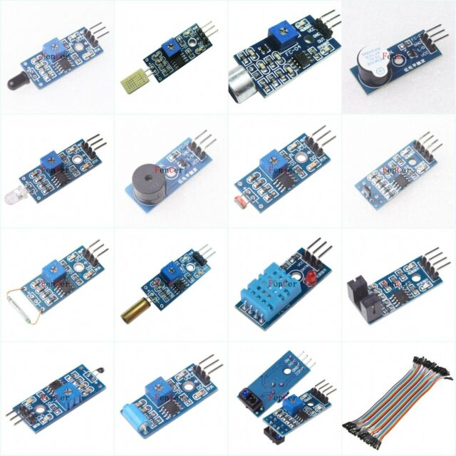 15 Sensor Modules Dupont Lines for Starter Kit Learning Kit for Arduino AVR PIC