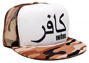 1a3b8047aad72 Image is loading New-Arabic-Font-INFIDEL-Flat-Bill-Snapback-Truckers-
