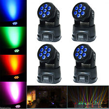 4PCS 70W RGBW LED Moving Head Stage Light DMX-512 DJ Club Disco Party Lighting