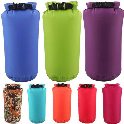 2-15Litre Dry Sack Storage Kit Bag Canoe Kayak Camping Hiking Unisex