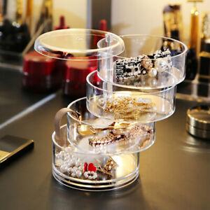 4-Tier-Advanced-Rotating-Drawer-Jewellery-Box-Desktop-Storage-Organiser-Holder