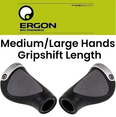 Ergon GP1 LARGE Ergonomic Gripshift Length Hybrid Urban Commuter Comfort Bike