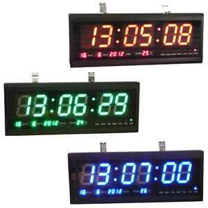 Image Is Loading Led Digital Wall Desk Clock Calendar Temperature Display