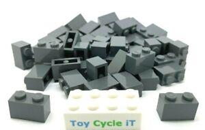 Lego-50-x-dunkelgrau-Brick-1x2-Teil-3004-Creator-City-Minecraft-NEU