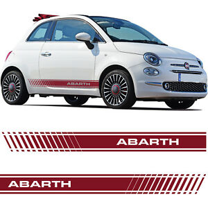 fiat 500 abarth car side skirt stickers italian flag decal graphic stripe grande ebay. Black Bedroom Furniture Sets. Home Design Ideas