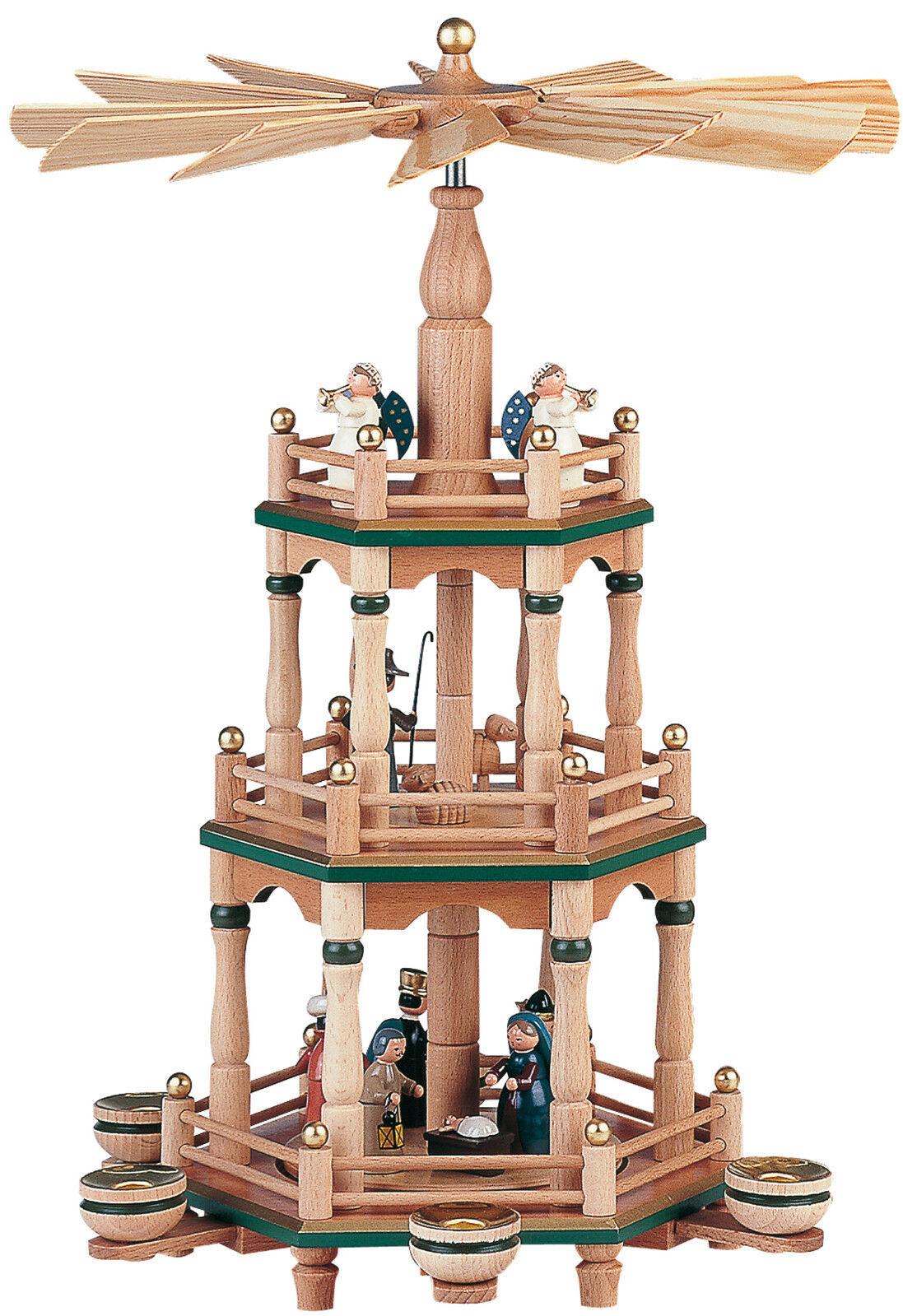 0812 Zeidler Deckenpyramide Hängepyramide Erzgebirge Seiffen Winterkinder Art