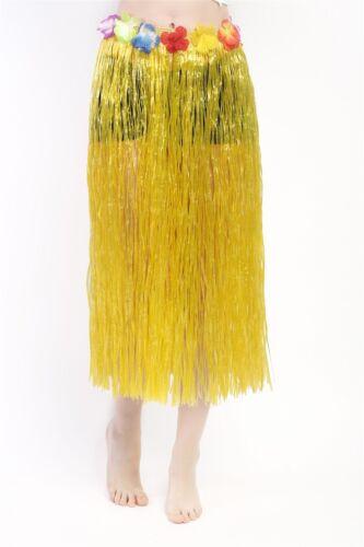 Karneval Hawaii Rock Bastrock Südsee Pazifik Hula Skirt Gelb Lang 75-80 cm