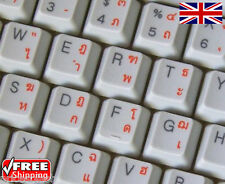 Thai Transparent Keyboard Stickers With Orange Letters For Laptop PC Computer