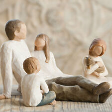 Willow Tree Father with 2 daughters and a Son Figurine set in Gift BOX  23616