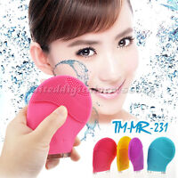 Face Skin Cleaner Silicone Massager Scrubber Sonic Facial Cleaning Brush Silicon