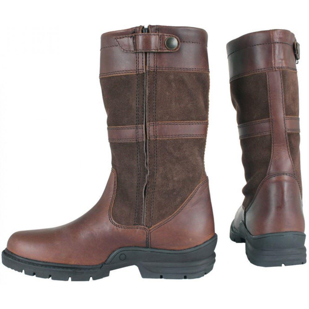 Horka York Unisex Waterproof Short Leder Country Stiefel in Braun