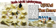 OLD TREE STUMPS X-LARGE Scale Model Masterpieces Fine Craftsman 12pcs 1/48-1;25