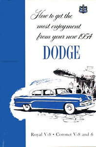 1954 dodge owners manual royal coronet meadowbrook sierra suburban rh ebay com dodge owners manual pdf downloads dodge owners manual pdf downloads