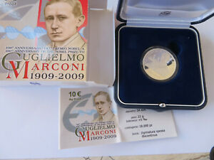 ITALIE - 10 Euro - 2009 Guglielmo Marconi   ARGENT BE PP CPS