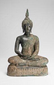 Antico Thai Stile Seduta Sukhothai Meditazione Statua di Buddha -