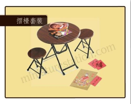 Free Shipping Mimo Miniature Estate fold table /& chair