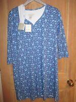 Karen Neuburger S Sleep Shirt Nightgown Headband Set Blue Squirrels
