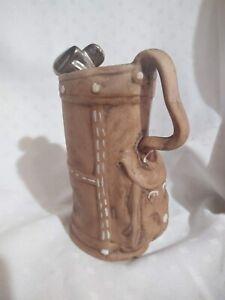 VTG Golf Bag Vase w Handle Planter Napco Ceramic Japan Foil Tag Pencil Holder