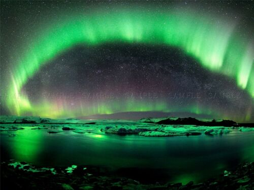 NATURE LANDSCAPE AURORA BOREALIS NORTHERN LIGHTS POSTER ART PRINT BB1410A